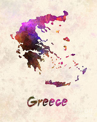 Greece Watercolor Painting - Greece In Watercolor by Pablo Romero