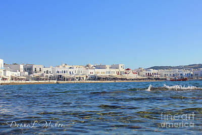 Photograph - Greece Island Town by Donna L Munro