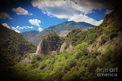 Photograph - Greece Mountain Scene by Donna Munro