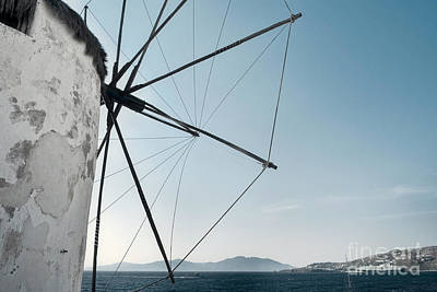 Greece Photograph - Greece Mykonos Windmill With Blue Sky In Mykonos Island Greece Cyclades by Dani Prints and Images
