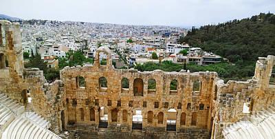 Photograph - Greece Theatre by Donna L Munro