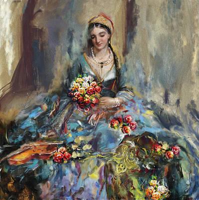 Painting - Greece Woman 171 2  by Mawra Tahreem