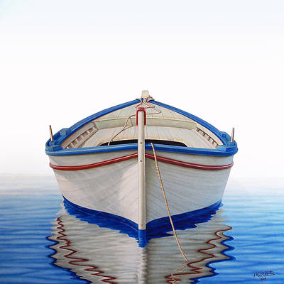 Greek Boat Art Print by Horacio Cardozo