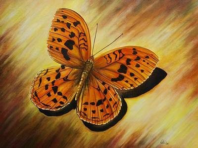 Greek Butterfly Original by Vivian Holabird
