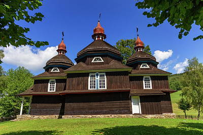 Photograph - Greek Catholic Wooden Church, Unesco, Nizny Komarnik, Slovakia by Elenarts - Elena Duvernay photo