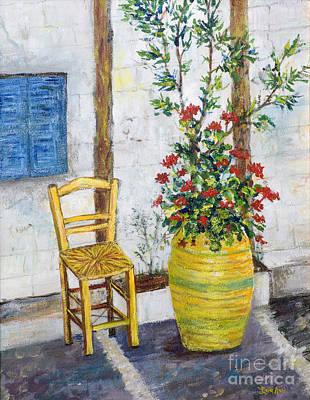 Painting - Greek Chair by Lou Ann Bagnall
