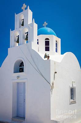 Thera Photograph - Greek Chapel by Inge Johnsson