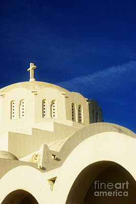 Religious Cross Photograph - Greek Church by HD Connelly