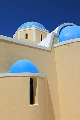 Photograph - Greek Church, Oia, Santorini, Greece by Elenarts - Elena Duvernay photo