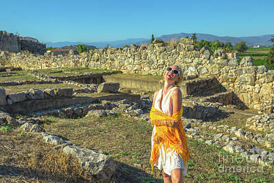 Photograph - Greek Dress In Archaeological Site by Benny Marty