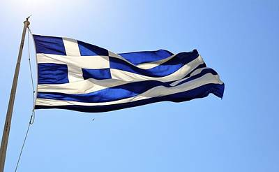 Photograph - Greek Flag by Corinne Rhode