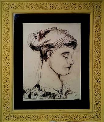 Drawing - Greek Girl by Mykul Anjelo