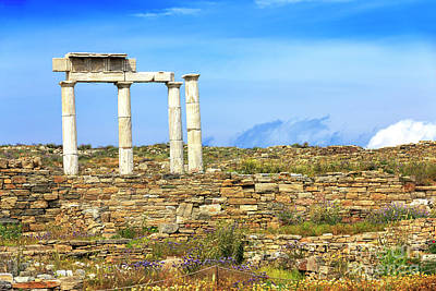Photograph - Greek History On The Island Of Delos by John Rizzuto