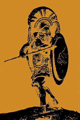 Painting - Greek Hoplite - Ancient Warfare by Andrea Mazzocchetti