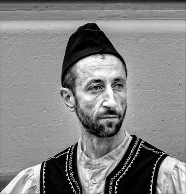 Greek Independence Day Nyc 2017 Man In Traditional Dress Art Print