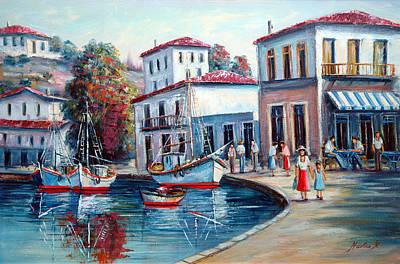 Greek Island No 1--90x60 Cm Art Print by Nikolas K