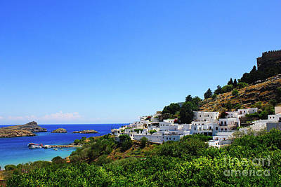 Photograph - Greek Island Town by Donna Munro