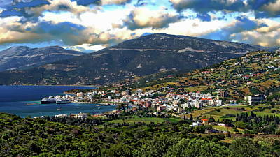 Photograph - Greek Landscape Panorama by Anthony Dezenzio