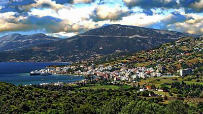 Photograph - Greek Landscape Panorama by Anthony Dezenzio