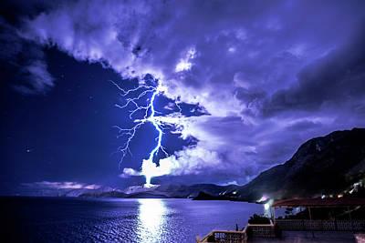 Photograph - Greek Lightning by Jeffrey Fox