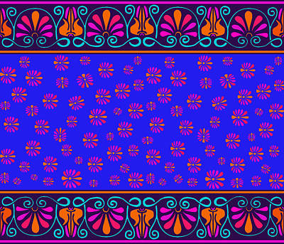 Digital Art - Greek Lotus by Vagabond Folk Art - Virginia Vivier
