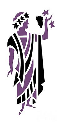 Greek Man In Purple Art Print