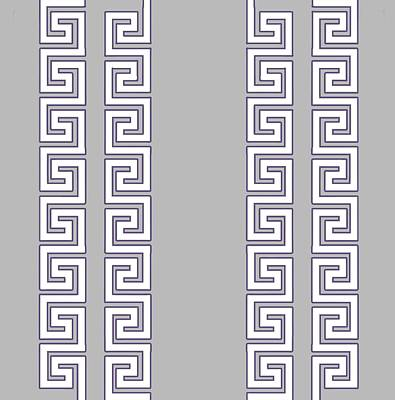Digital Art - Greek Pattern - Chuck Staley by Chuck Staley