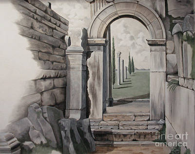 Greek Portal Art Print by Joyce Hutchinson