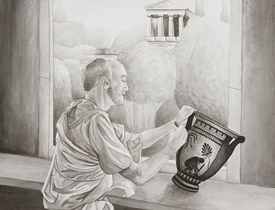 Painting - Greek Pottery by Michelle Miron-Rebbe