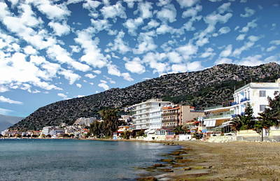 Photograph - Greek Resort Village  by Anthony Dezenzio