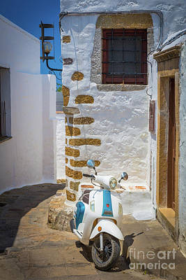 Photograph - Greek Scooter by Inge Johnsson