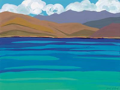 Sea View Painting - Greek Sea by Sarah Gillard