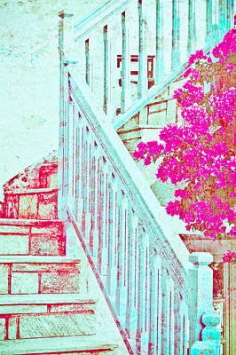 Greek Stairs Art Print by Tom Gowanlock