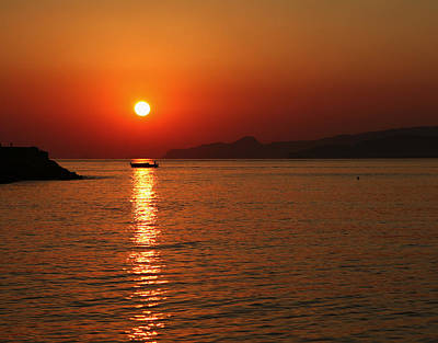 Greek Sunrise Art Print