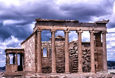 Art Print featuring the photograph Greek Temple by Linda Constant