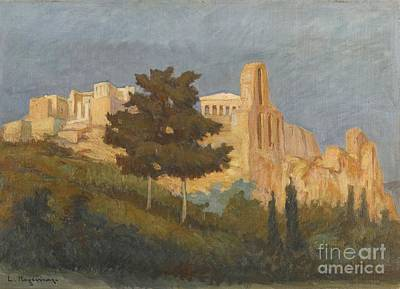 Greek The Acropolis Art Print by MotionAge Designs