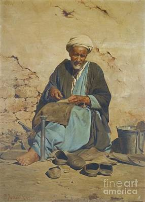 Old Man Painting - Greek The Cobbler by MotionAge Designs