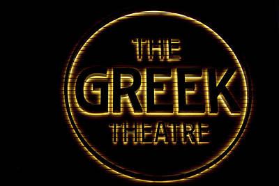 Photograph - Greek Theater Sign by Robert Hebert