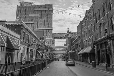 Photograph - Greek Town Detroit Black And White  by John McGraw