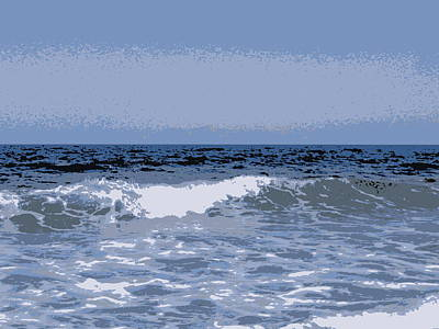 Photograph - Greek Waves - 1 by Karen J Shine