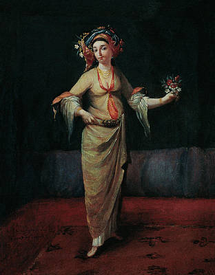 Women Painting - Greek Woman by Eastern Accent