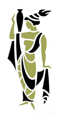 Greek Woman In Olive Art Print