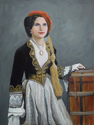 Ellis Island Painting - Greek Woman On Ellis Island by Sandra Nardone
