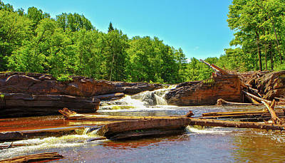 Photograph - Greenstone Falls, Wi by Jeff Kurtz
