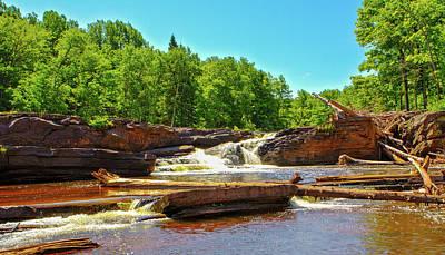 Photograph - Greenstone Falls, Wi by Jeff Kurtz