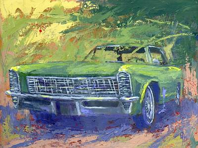 Painting - Green 1965 Buick Riviera by David King