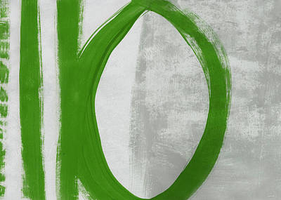 Painting - Green Abstract Circle 1- Art By Linda Woods by Linda Woods