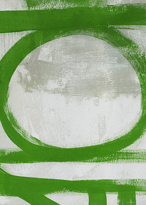 Painting - Green Abstract Circle 2 Vertical- Art By Linda Woods by Linda Woods