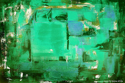 Painting - Green Abstract by Gina De Gorna
