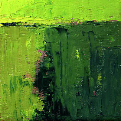 Painting - Green Abstract by Nancy Merkle
